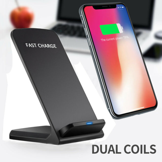 AU Qi Wireless Fast Charger Charging Stand Dock FOR iPhone X 8 Samsung Galaxy S8