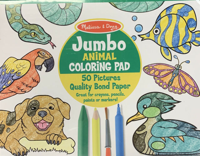 Awesome Animals Coloring Pad Child-teen-adult Horizon Group USA 11x14 50  Pages For Sale Online EBay