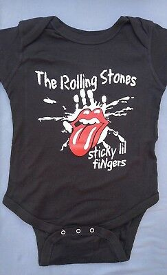 ROLLING STONES Rock Roll TONGUE Baby Infant Toddler ONE PIECE BODYSUIT 18 24 Mos