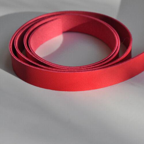 Basteln Rotes Kunstleder Band 15 x 1,5 mm //1 Meter lang für Armbänder