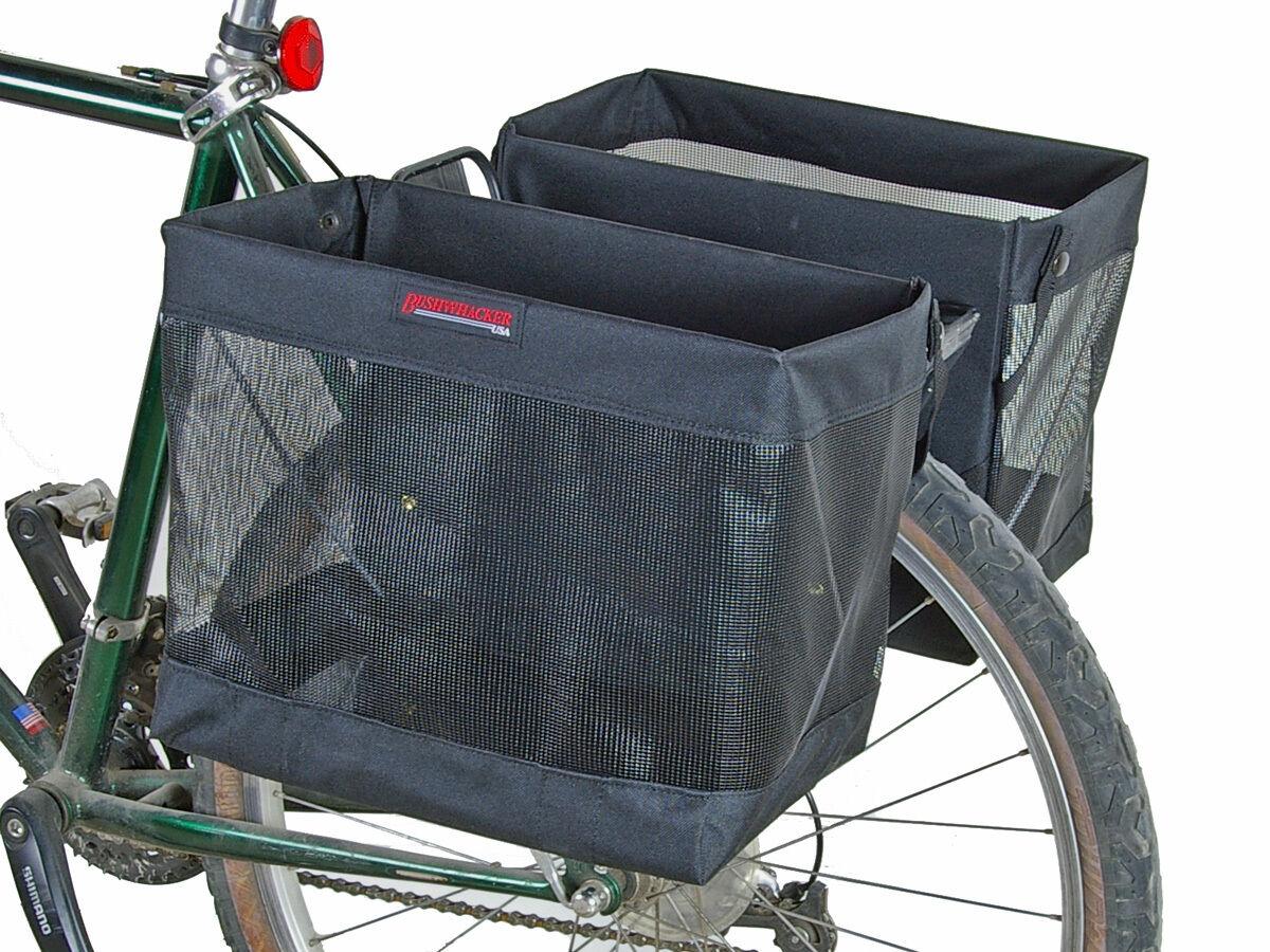 autobushwhacker Omaha bicicletta Grocery Basket Pannier Pair bicicletta ciclismo Rear Rack borsa