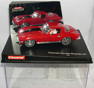 QQ Carrera Evolution 25429 Slot Car Chevrolet Corvette Sting Ray 427 '67 Mo