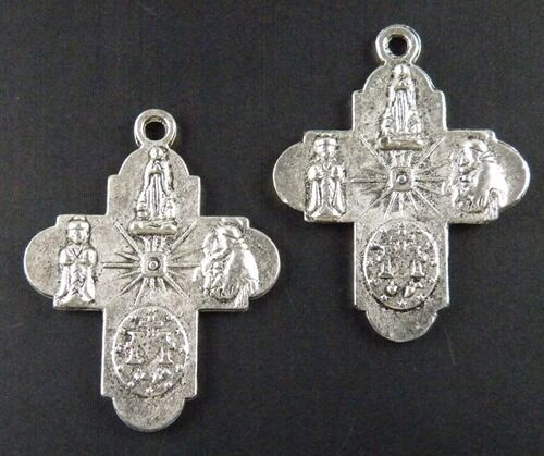 35pcs Tibetan Silver Cross Charms Pendants Jewelry DIY 30x23x2mm 8419