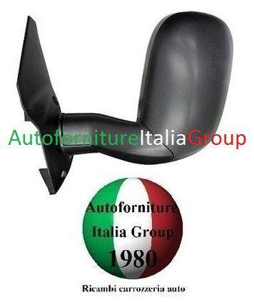 SPECCHIO SPECCHIETTO RETROVISORE SX MANUALE B//LUNGO NERO FORD TRANSIT 96/>00 1996