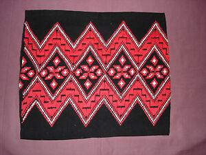 #829 Beautiful Vintage Hand Embroidered Pillow Case 18''/15'' 46cm/39cm Discounts Sale