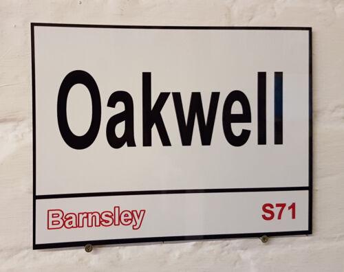 Barnsley fc   Oakwell Stadium Ground Street Sign metal Aluminium Football stand