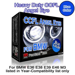 30000K-Blue-Heavy-Duty-BMW-CCFL-Angel-Eye-Halo-Ring-131-mm-x-4-E46-E39-E38-E36