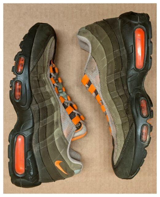 Nike Air Max 95 OG Neutral Olive Total Orange Mens 7 Womens 8.5 Rare AT2865-200