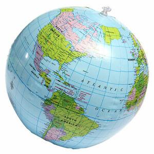 Aufblasbarer-GLOBE-Weltkugel-Wasserball-Erdglobus-Ball-Strandball-38cm-Q4K7-Q3U6