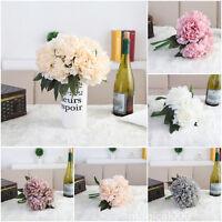 1 Bouquet Artificial Fake Peony Silk Flower Bridal Hydrangea Party Wedding Decor