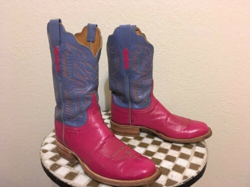 PINK LAVENDER LUCCHESE WESTERN COWBOY BOOTS 9 B