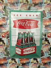 Coca-Cola Drink Ice Cold - Tin Metal Wall Sign