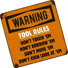 Funny TOOL RULES DON'T Toolbox Tool Box / Chest Bag vinyl car sticker decal