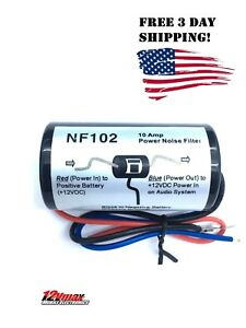 1Pc-POWER-12V-NOISE-FILTER-HUM-KILLER-ENGINE-SUPRESSOR-WIRE-FOR-CAR-STEREO-AUDIO