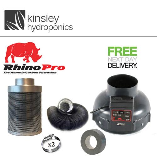 """150mm x 300mm A1 Rhino Pro Filter Twin Speed Fan Carbon Kit RVK Hydroponics 6/"""""""