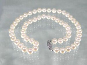 GORGEOUS-AKOYA-WHITE-6-6-5mm-AAA-ROUND-PEARL-18-034-NECKLACE-14K-GOLD-CLASP