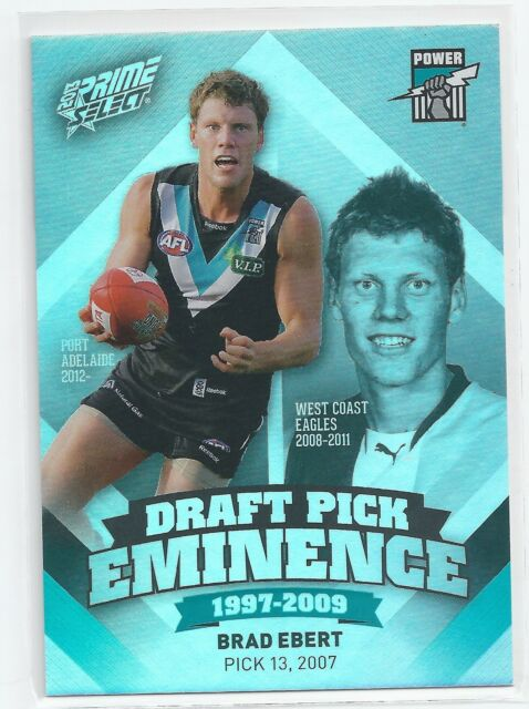 Sports Mem, Cards & Fan Shop Select Footy Champions 2009 Brett Ebert Port Adelaide Gem