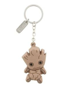 Guardians Of The Galaxy Groot Marvel Kawaii Rubber Keyring Keychain Official