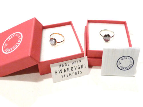 Bijou alliage doré ou argenté bague cristal Inès de la Fressange ring
