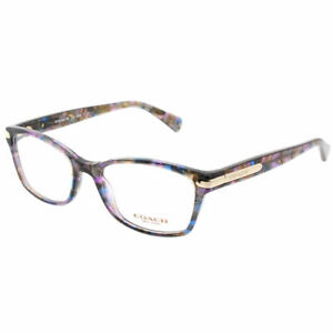 7857335c63 Coach HC 6065 5288 Confetti Purple Plastic Rectangle Eyeglasses 51mm ...