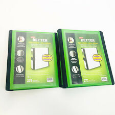 2 Staples Better Mini 1 Inch D 3 Ring View Binder Bright Green Holds 55 X 85