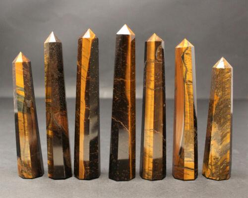 Tiger Eye Obelisk /'A/' Grade, Gold Tiger Eye Crystal, Point, Crystal Tower