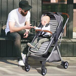 Carrito Plegable para Bebés con Asiento Regulable Freno y Cesto de Almacenaje