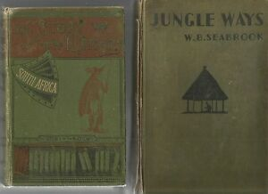 SOUTH-AFRICA-by-THEAL-1900-JUNGLE-WAYS-by-SEABROOK-1936-WEST-AFRICA-Hc-2-BOOKS