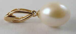 100-Genuine-9ct-Solid-Yellow-Gold-Large-Pearl-Pendant