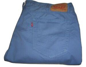 Mens Levi's 511 Slim Fit Blue Stretch Soft Cotton Jeans W40 L32