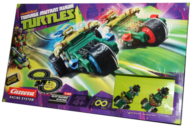 2 Car Racing System Slot Track Turtles Leonardo Raphael