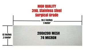 74-Micron-316L-Stainless-Steel-12-034-x-40-034-HIGH-QUALITY-FILTER-SIEVE-KIEF-SIFTER