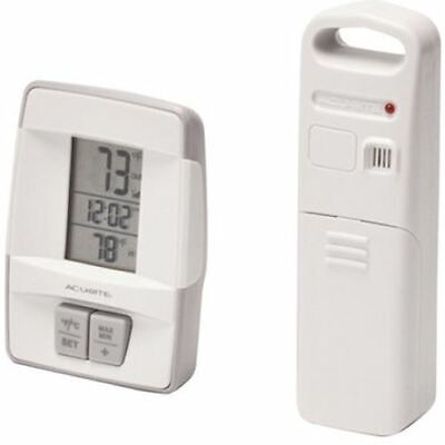 AcuRite Digital Wireless Thermometer with Clock Indoor ...