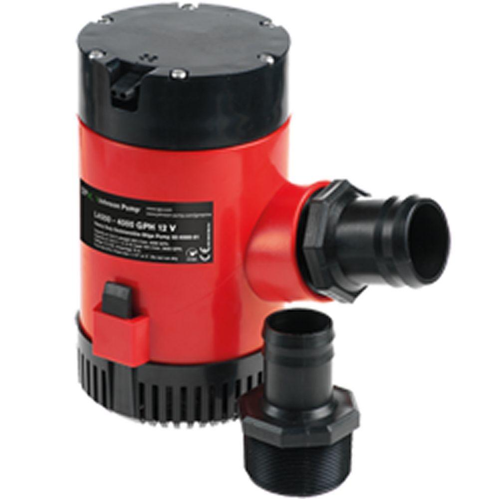 Johnson HD Bilge Pump, 4000GPH, 12V, No Switch