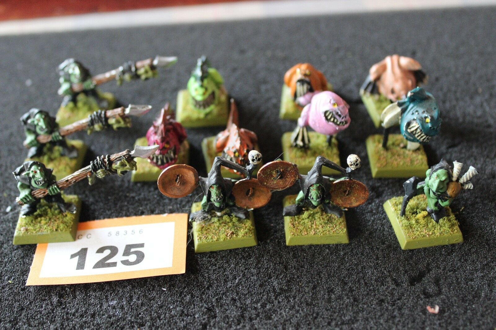 Spel arbetarhop Warhammer Night Goblins Squig Herder Teams Metal Målade figurer
