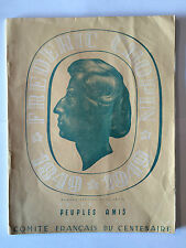 REVUE CENTENAIRE CHOPIN 1849 1949 NUMERO SPECIAL HORS SERIE PEUPLES AMIS ILLUST