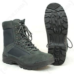 prezzi vari tipi di buona vendita Dettagli su URBAN GRIGIO Tattico Esercito Boot con cerniera YKK-Stivali Da  Militare All'aperto Nuovo- mostra il titolo originale
