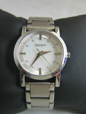 DKNY WOMEN'S SOHO WATCH NY4519 STAINLESS STEEL WHITE DIAL CRYSTALS GENUINE