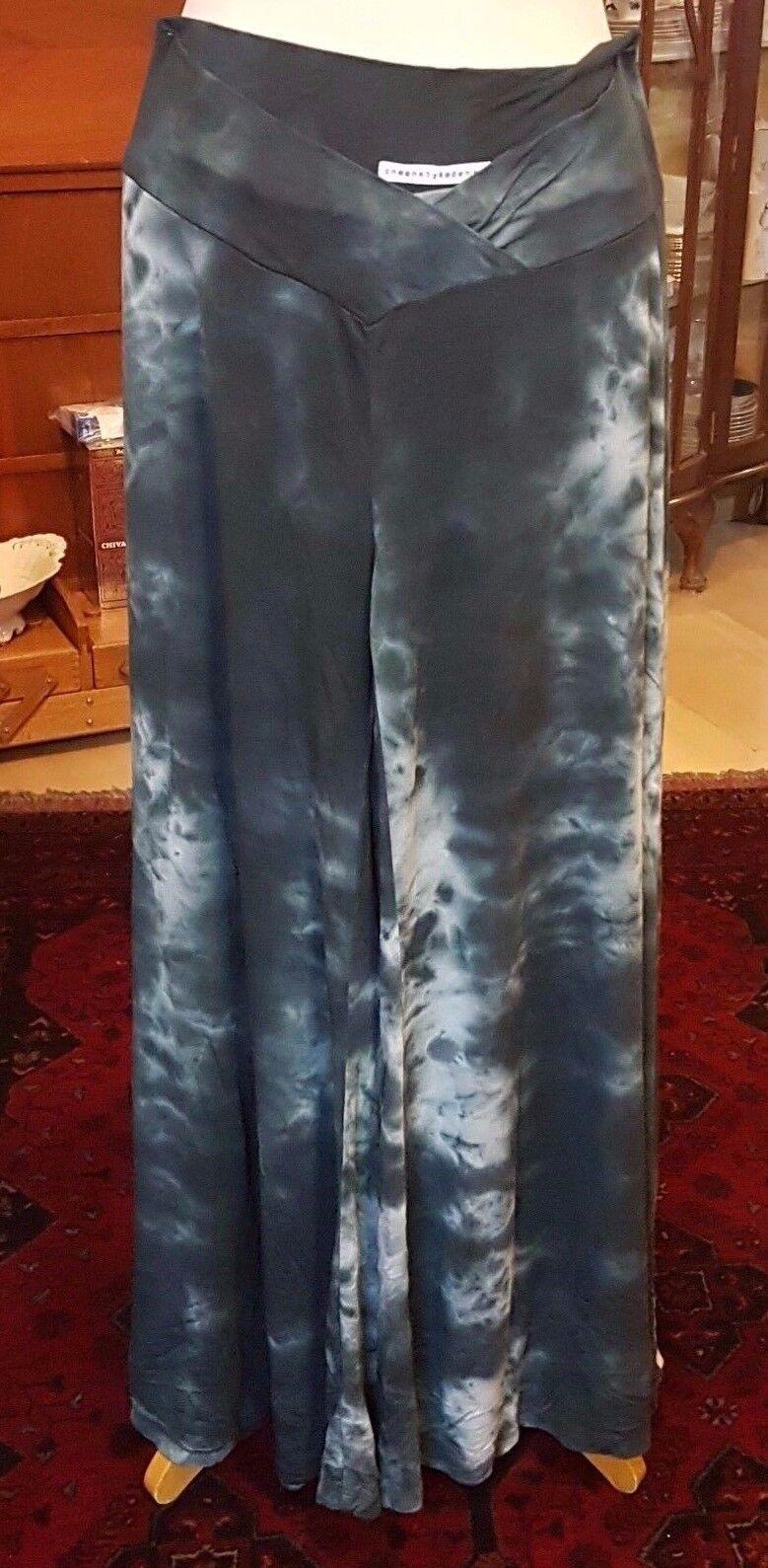 Kedem Sasson Wide Leg Batic Style Blau Pants   Skirt style - Größe M-L