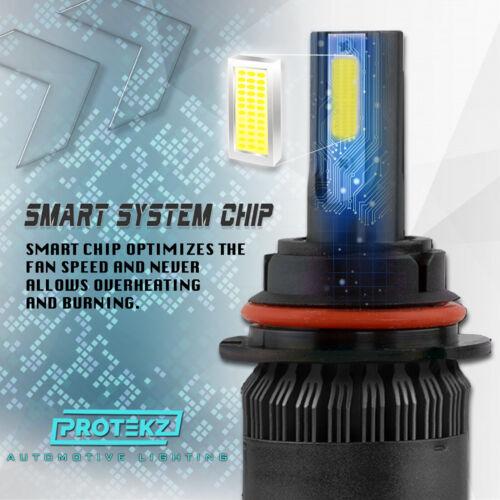 LED Headlight Kit 9004 HB1 6000K White Hi//Low Bulbs for TOYOTA Tercel 1995-1996