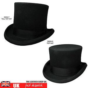 Neuf-Qualite-Fait-A-La-Main-Noir-Deux-Styles-Mariage-Haut-Chapeau-Haut-de-forme