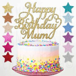 Sensational Custom Personalised Happy Birthday Mum Glitter Cake Topper Party Funny Birthday Cards Online Inifofree Goldxyz