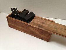 Vintage Dominoes Set Star Design in Handmade Dovetail Joint Wood Box (G4979)