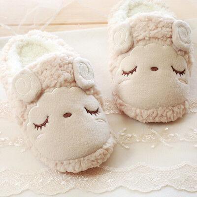 Hauspantoffeln Hausschuhe für Frauen niedlichen Schafe weiche Damenhausschuhe