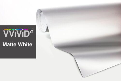 VViViD8 white matte 5ft x 7ft flat satin air release car wrap vinyl 3mil cast