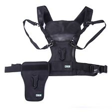 Movo Photo MB1000 Multi Camera Carrying Photographer Vest with Side Holster
