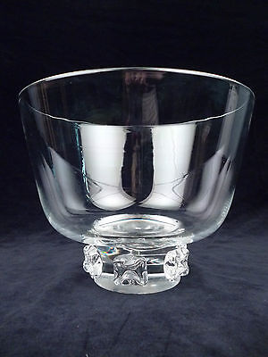 Large Footed Steuben Art Glass Bowl with Applied Prunts GL