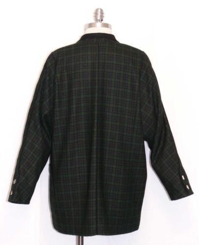 Austria Tracht Riding Coat Women L Plaid 16 Jacket Green Heller Wool 42 741587279938 Black dn8wz0dq