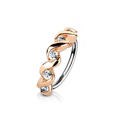 Piercing Tragus cartilage Helix glamour hoop ring 316l acero quirúrgico