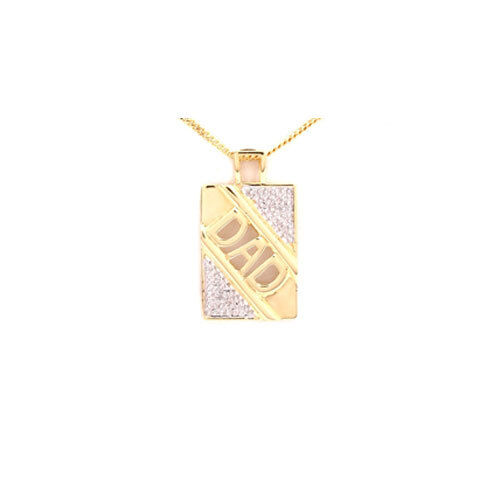 "Sterling Silver & Gold Plated Dad Pendant With 18"" Chain"